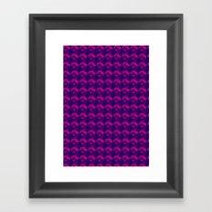 Cherry Nice Pattern - Pink/Purple Framed Art Print