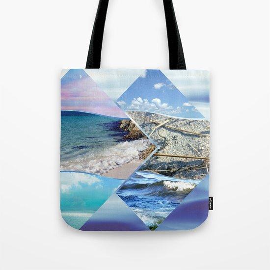 Sea, Sand and Sky Collage Tote Bag