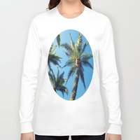 palm trees Long Sleeve T-shirts featuring Palm Trees by Jillian Stanton