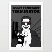 terminator Art Prints featuring TERMINATOR by Javi Medina