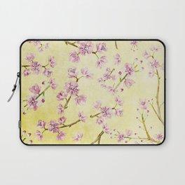 Sakura - Cherryblossoms on yellow Laptop Sleeve