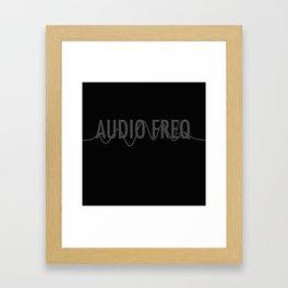 Audio Freq Framed Art Print