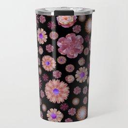 flowers on dark Travel Mug