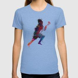 Lacrosse player art 1 T-shirt