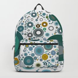 MOLECULE - scattered teal green dots on white abstract design Backpack