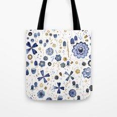 Indigo Flower Mashup Tote Bag