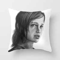 ellie goulding Throw Pillows featuring Ellie by robo3687