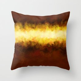 Liquid Gold Sunbeam with Burnished Bronze Throw Pillow