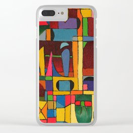 Colors In Collision 1 - Geometric Abstract of Colors that Clash Clear iPhone Case