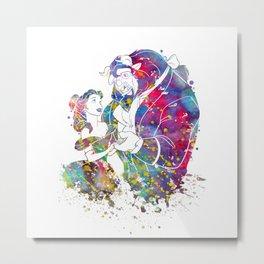 Beauty and the Beast Metal Print