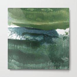 Encaustic Abstract No.27O by Kathy Morton Stanion Metal Print