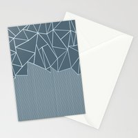 Ab Lines Blues Stationery Cards