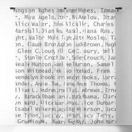 African American Literary Rebels Sheer Curtain