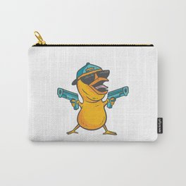 CHICK CARTOON WITH GUNS Carry-All Pouch
