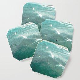 California Surf // Coastal Spring Waves Teal Blue and Green Ocean Huntington Beach Views Coaster