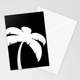 Palm Tree - Black and White Art Stationery Cards