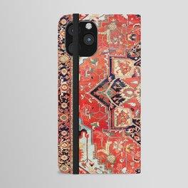 Heriz Azerbaijan Northwest Persian Rug Print iPhone Wallet Case