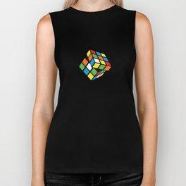Rubik's Cube 3D Biker Tank