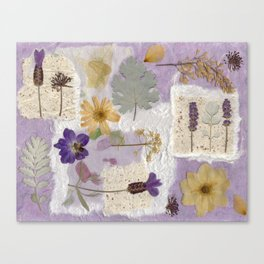 Lavender Collage Canvas Print