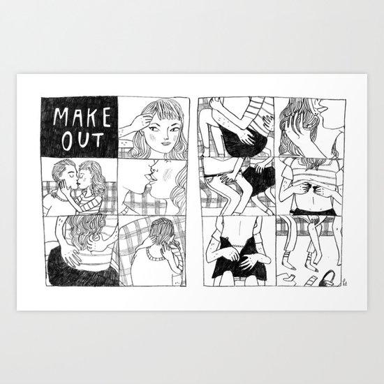 Make Out Art Print