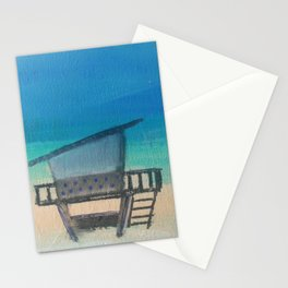 Polka Dot Life Guard Station Stationery Cards