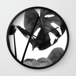 Monstera Vibes #2 #minimal #decor #art #society6 Wall Clock