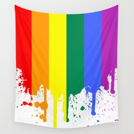 Rainbow Flag Wall Tapestry