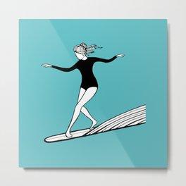 The Surfer Girl Metal Print