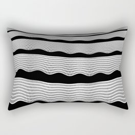 Horizontal Waves Rectangular Pillow