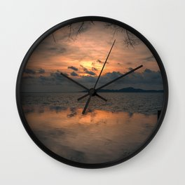 Sunset on the Gulf of Thailand Wall Clock