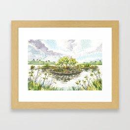 Cape Canaveral National Sea Shore Framed Art Print