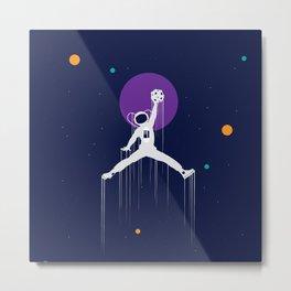 NBA Space Metal Print