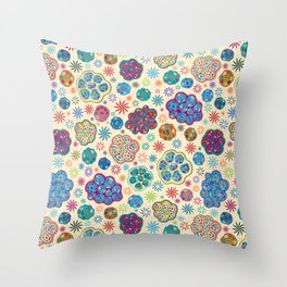 Cilia Breathe, a microscopic cross-section view Throw Pillow