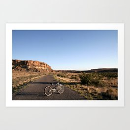 Biking in Chaco Canyon Art Print