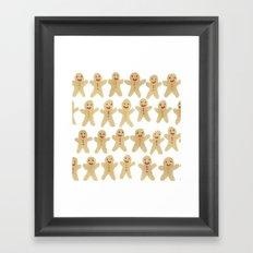 Gingerbread people Framed Art Print
