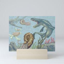 prehistoric ocean Mini Art Print