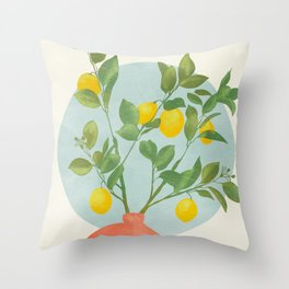 vase branche stillife abstract shapes Throw Pillow
