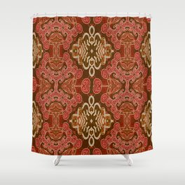 Celtic and Mayan Inspired Neotribal Print Shower Curtain