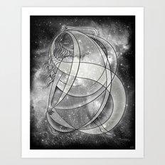 Nyx - Black and White Art Print