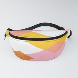 Geo pattern - sorbet & orange Fanny Pack