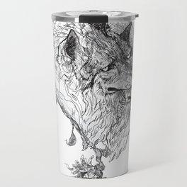 Cerberus Black and White Travel Mug