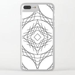 Geometric #11b Clear iPhone Case