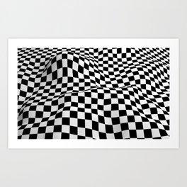 Wiggly Checker Board Art Print