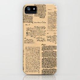 George Washington's Letters // Dark Paper iPhone Case