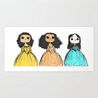 amy hamilton Art Prints featuring Hamilton by macaroon22