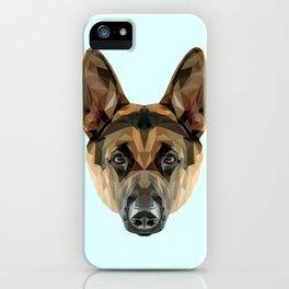 German Shepherd // Pastel Blue iPhone Case