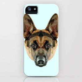 German Shepherd // Pastel Blue iPhone Case