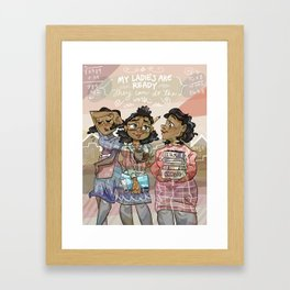 Hidden Figures Framed Art Print