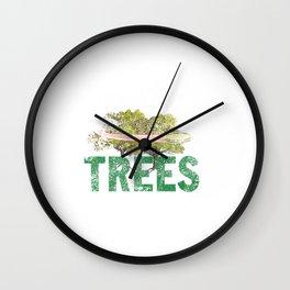 Splittin' Trees Funny Distressed Disc Golf Wall Clock