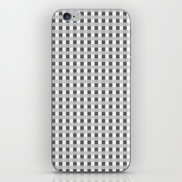 Retro Black and White Squares iPhone Skin